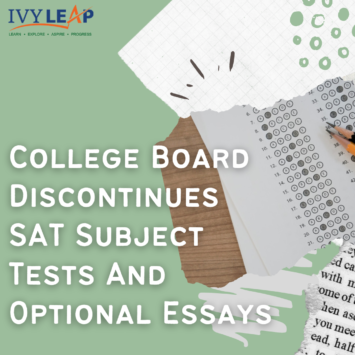 College Board Discontinues SAT Subject Tests And Optional Essays